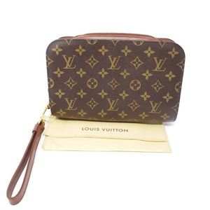 100% Auth Louis Vuitton Clutch Bag Excellent